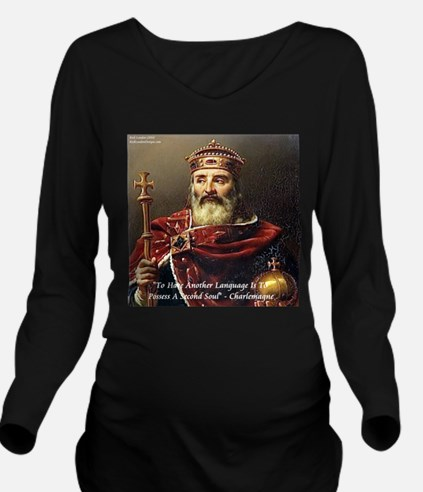 Charlemagne 2nd Language Long Sleeve Maternity T-S