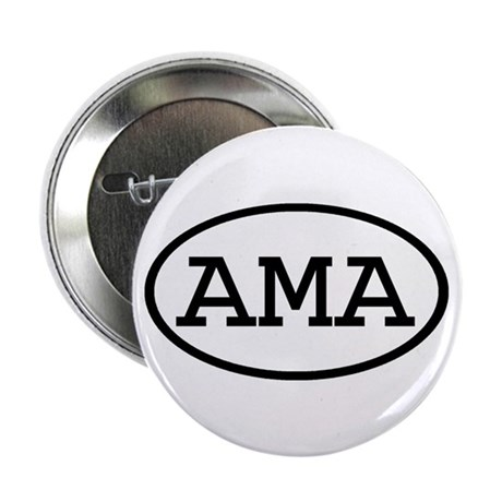 "AMA Oval 2.25"" Button (10 pack)"