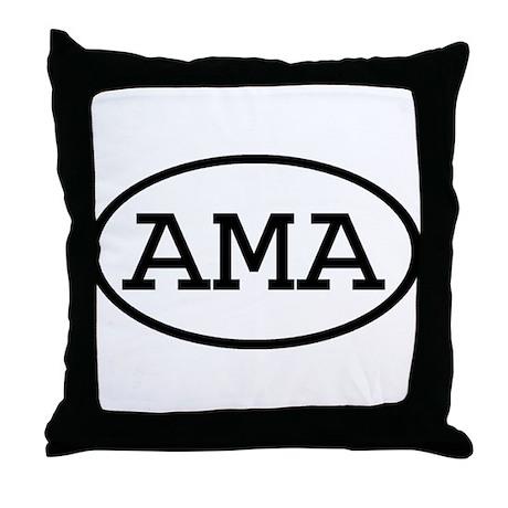 AMA Oval Throw Pillow
