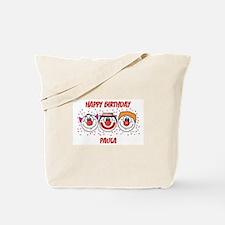 Happy Birthday PAULA (clowns) Tote Bag