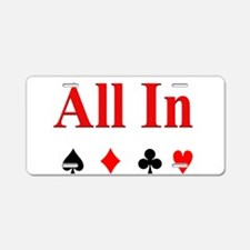 All In Aluminum License Plate