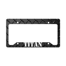 Titan Diamond Plate License Plate Holder