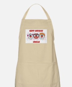 Happy Birthday VANESSA (clown BBQ Apron