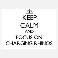 Keep Calm by focusing on Charging Rhin Invitations