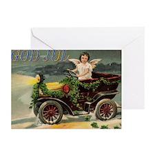Norwegian God Jul Auto Christmas Cards