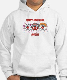 Happy Birthday MOLLIE (clowns Hoodie Sweatshirt