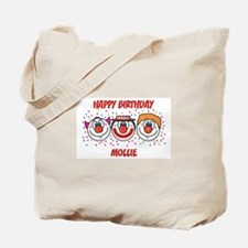 Happy Birthday MOLLIE (clowns Tote Bag