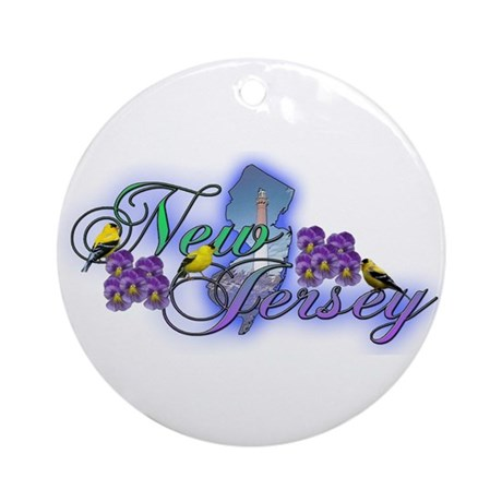 New Jersey Ornament (Round)