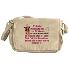 Breast Cancer is Scary Messenger Bag
