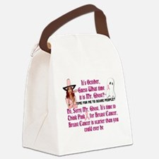 Breast Cancer is Scary Canvas Lunch Bag