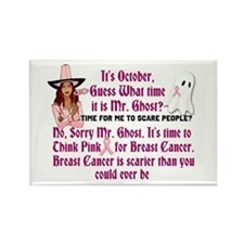 Breast Cancer is Scary Rectangle Magnet