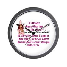 Breast Cancer is Scary Wall Clock