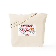 Happy Birthday SUSAN (clowns) Tote Bag