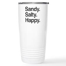Sandy. Salty. Happy. Travel Mug
