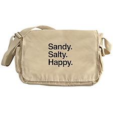 Sandy. Salty. Happy. Messenger Bag