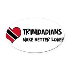 Unique Trinidad and tobago designs Oval Car Magnet