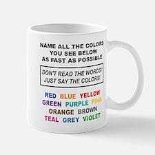 Stroop Effect Color Test Mug