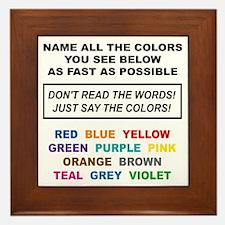Stroop Effect Color Test Framed Tile