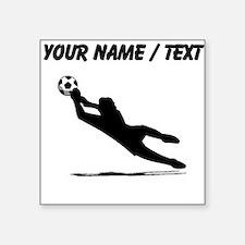 Custom Soccer Goalie Silhouette Sticker