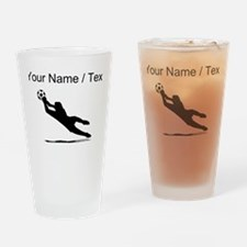 Custom Soccer Goalie Silhouette Drinking Glass