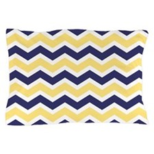 Nautical Chevron Light Yellow Pillow Case