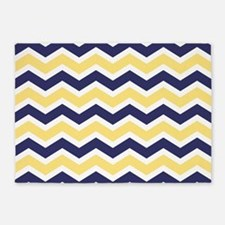 Nautical Chevron Light Yellow 5'x7'Area Rug