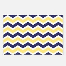 Nautical Chevron Light Ye Postcards (Package of 8)