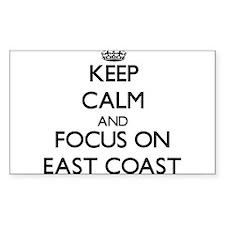 Keep Calm by focusing on East Coast Decal