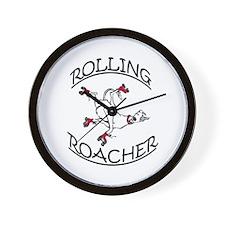 Rolling Roacher Wall Clock