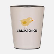 Saluki Chick Shot Glass