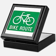 Bike Route Keepsake Box