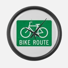 Bike Route Large Wall Clock