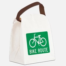Bike Route Canvas Lunch Bag