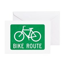 Bike Route Greeting Cards (Pk of 20)