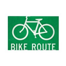 Bike Route Rectangle Magnet