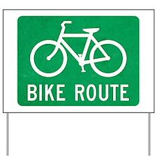 Bike Route Yard Sign