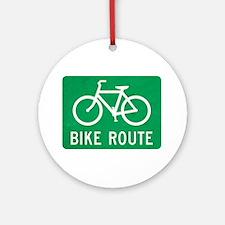 Bike Route Ornament (Round)