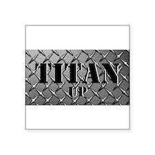 Titan Up Grey Diamond Plate Sticker