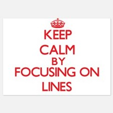 Keep Calm by focusing on Lines Invitations