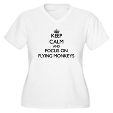 Keep Calm by focusing on Flying Plus Size T-Shirt