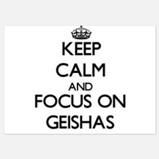 Keep Calm by focusing on Geishas Invitations