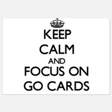 Keep Calm by focusing on Go Cards Invitations
