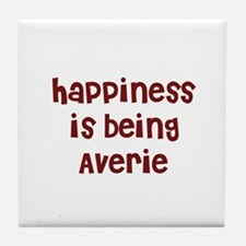 happiness is being Averie Tile Coaster