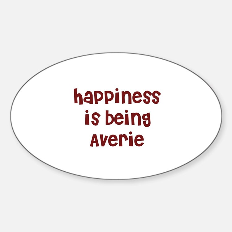 happiness is being Averie Oval Decal
