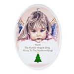 Cherub Oval Ornament