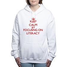Keep Calm by focusing on Women's Hooded Sweatshirt