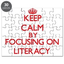 Keep Calm by focusing on Literacy Puzzle