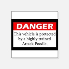 "Funny Miniature poodles Square Sticker 3"" x 3"""