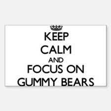 Keep Calm by focusing on Gummy Bears Decal