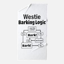 Westie Logic Beach Towel